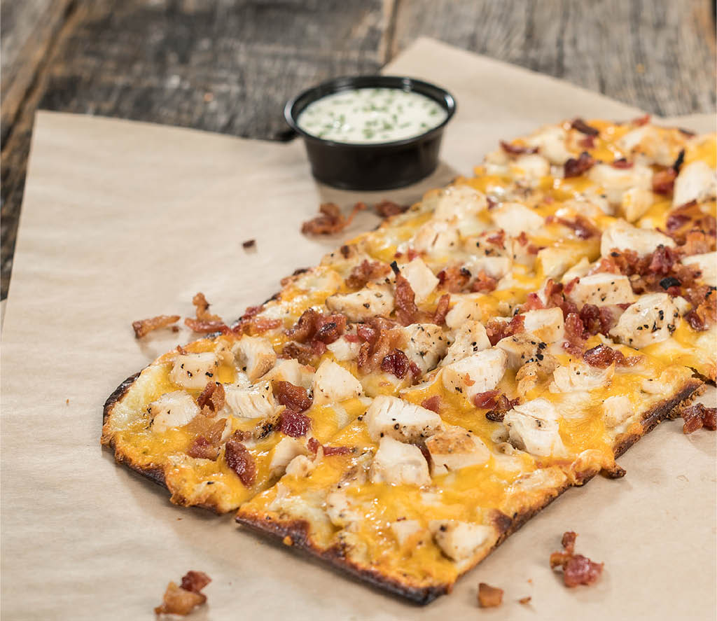 Specialty flatbread pizzas at Native Grill & Wings