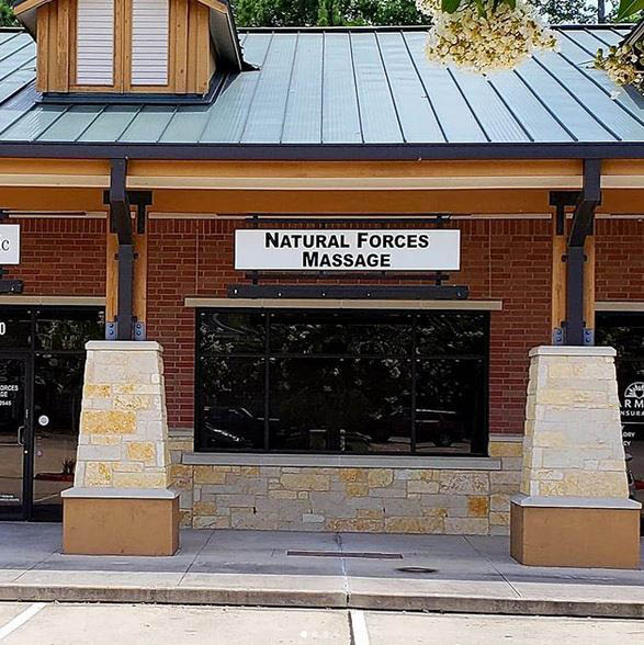 Natural Forces Massage entrance in Humble, Texas