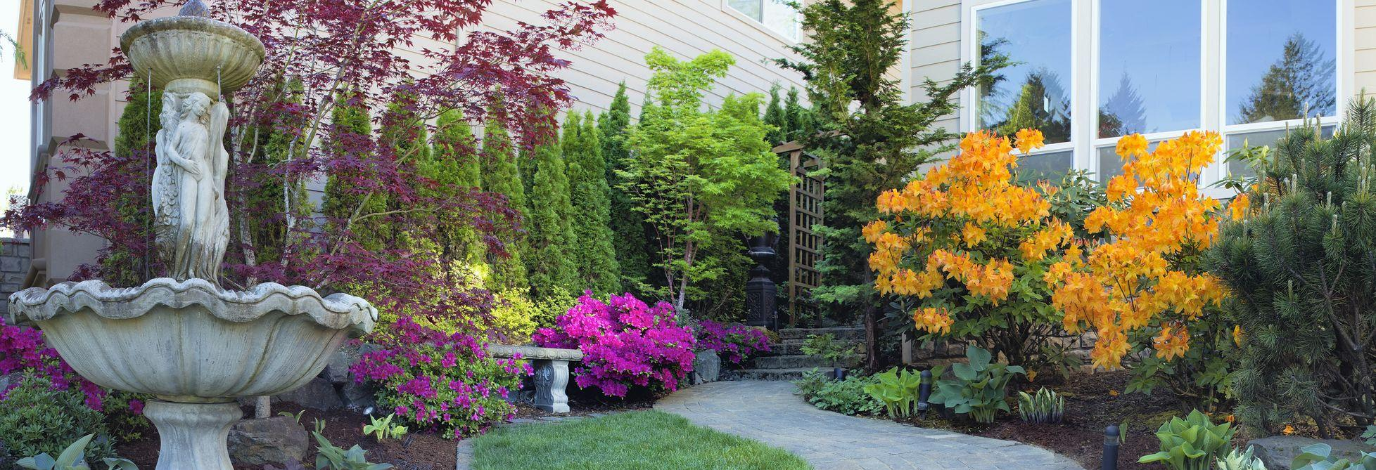 Freshen up your entrance this Spring, visit Busy Bee Garden center for all your landscaping needs.
