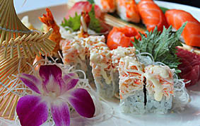 Sushi at the New Peking Palace is wonderful. A great add to any dinner or a dinner all by itself!