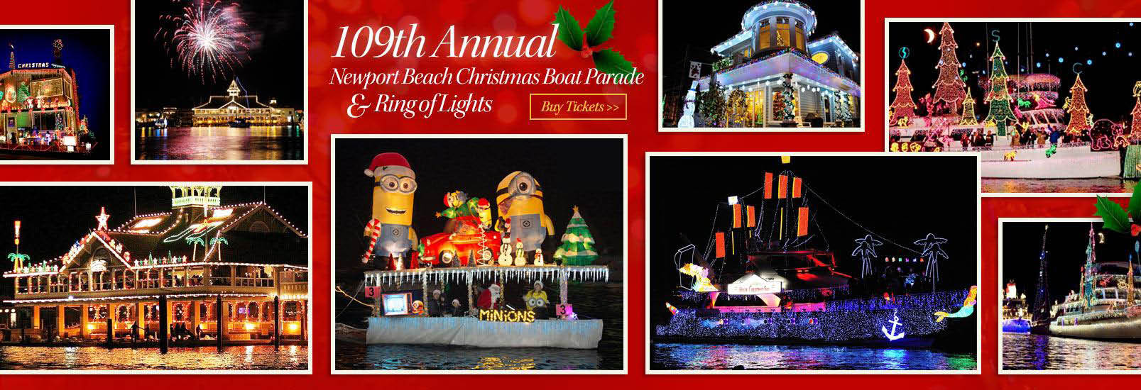 Newport Landing Christmas Boat Parade and Holiday Cruise Newport Beach, CA
