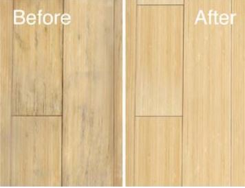 We can refinish non-sandable hardwood flooring.