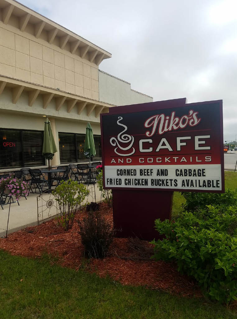 Nikos Cafe and Bar location Muskego WI