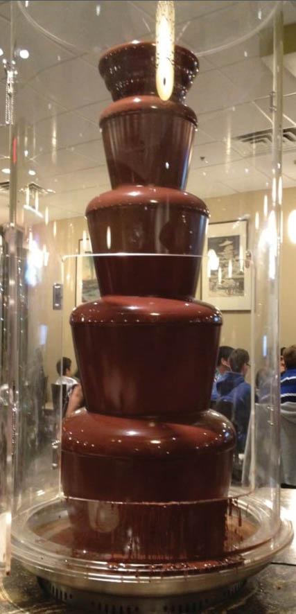 chocolate fountain at Ninja Sushi in Arlington, TX
