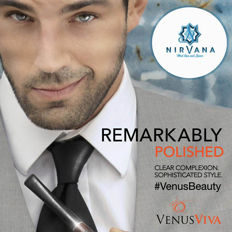Venus hair removal for men at Nirvana MedSpa and Laser in Palos Heights, IL.