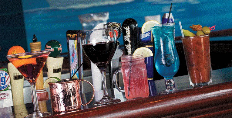 Picture of alcoholic drinks at North 42 Restaurant at MacRay Harbor in Harrison Twp, MI