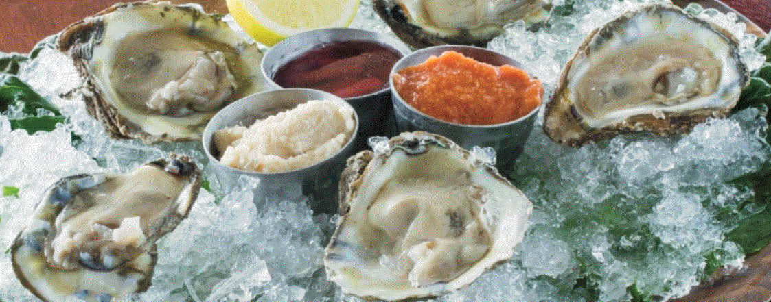 Picture of oysters at North 42 Restaurant at MacRay Harbor in Harrison Twp, MI