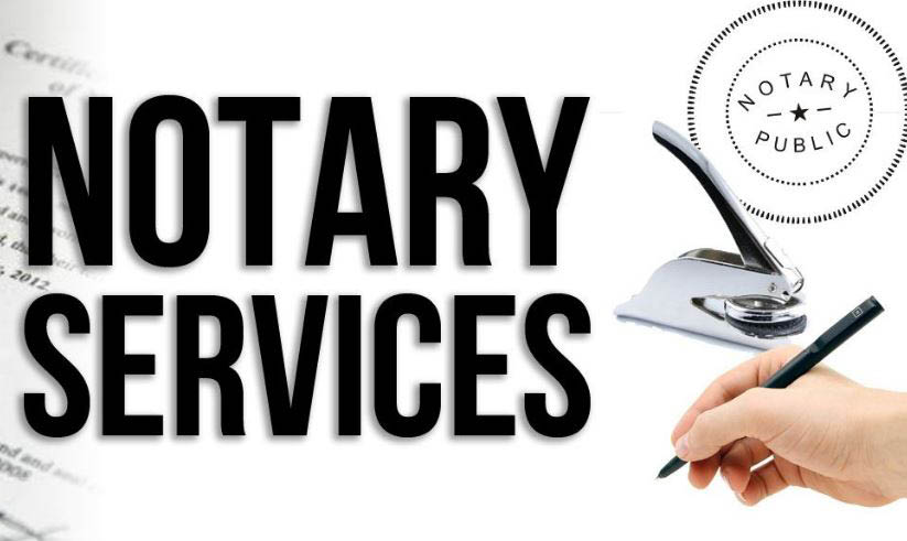 Notary services available at 111th St Currency Exchange.