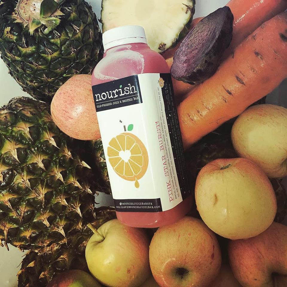 fresh fruits and vegetables blended into healthy juice drinks and smoothies