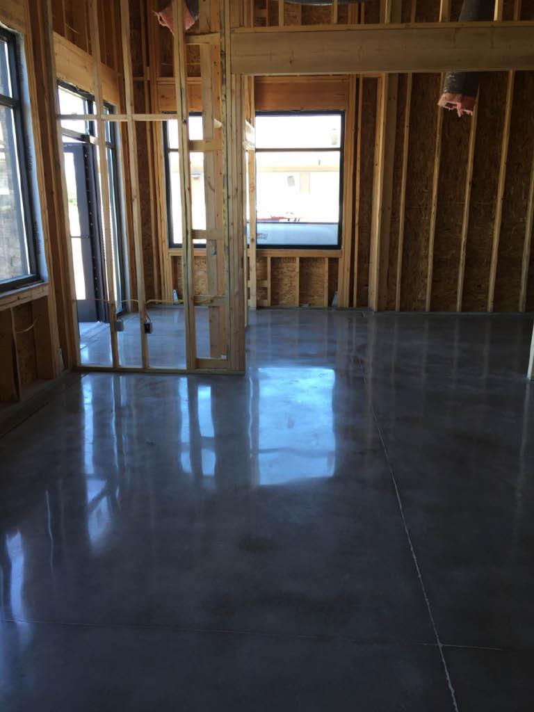 Shiny new flooring