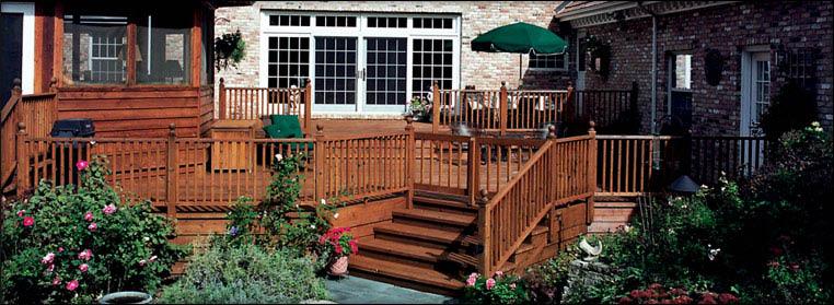 Dark wood deck paint staining