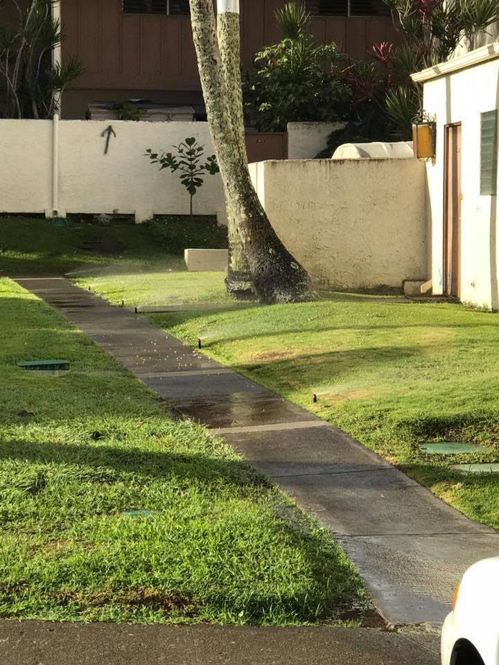 Irrigation system near Honolulu
