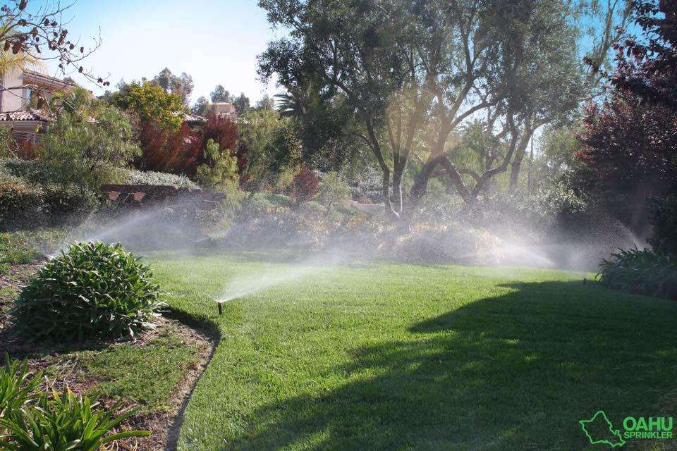 Sprinkler system near Pearl City