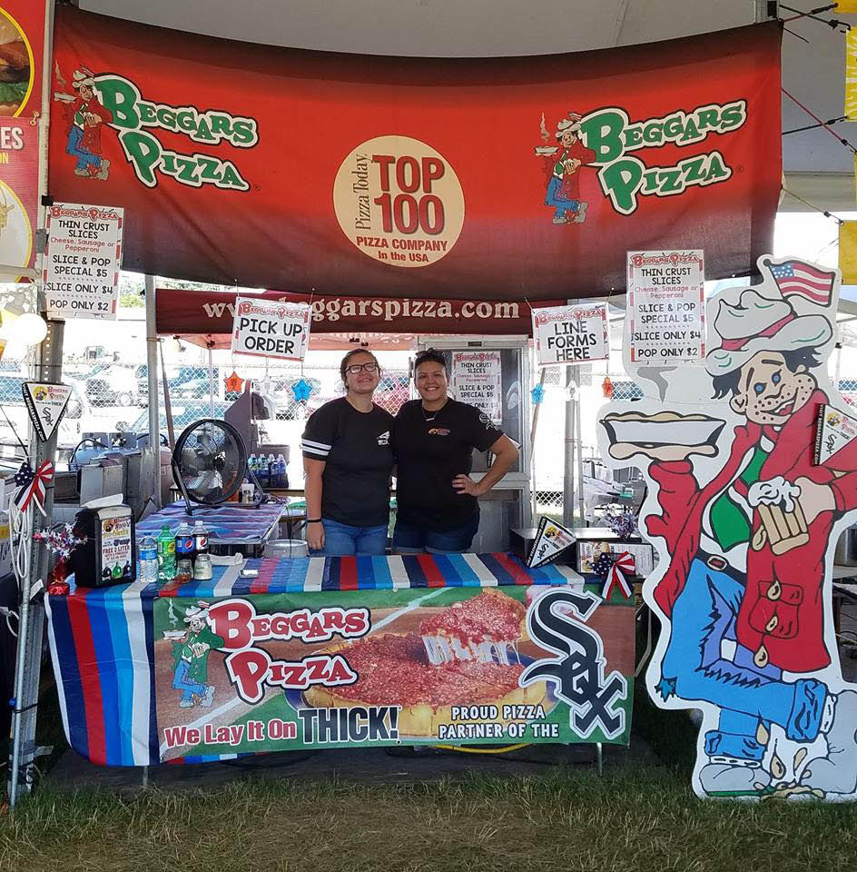Beggars Pizza at the Oakfest located in Oak Forest, IL.