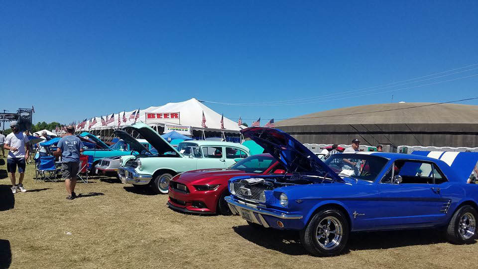 Classic car show at Oakfest July 3 - 7 2019