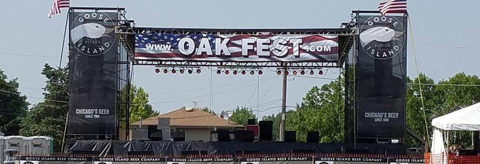 Main stage for Oak Forest's Oak Fest 4th of July weekend.