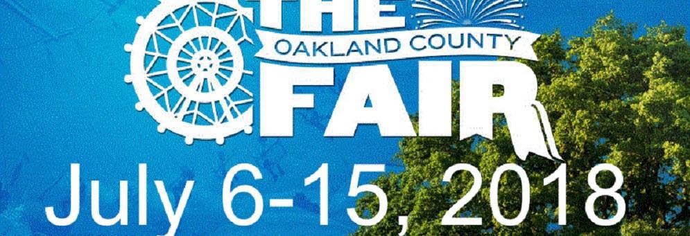The Oakland County Fair in July 2018 is in Davisburg, MI