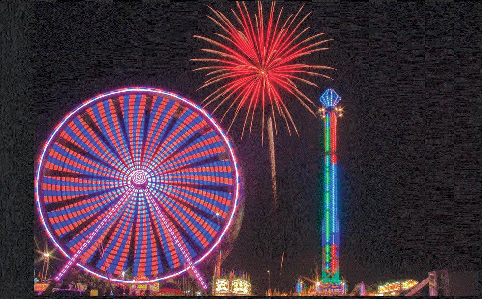 Fireworks at The Oakland County Fair in Davisburg, MI