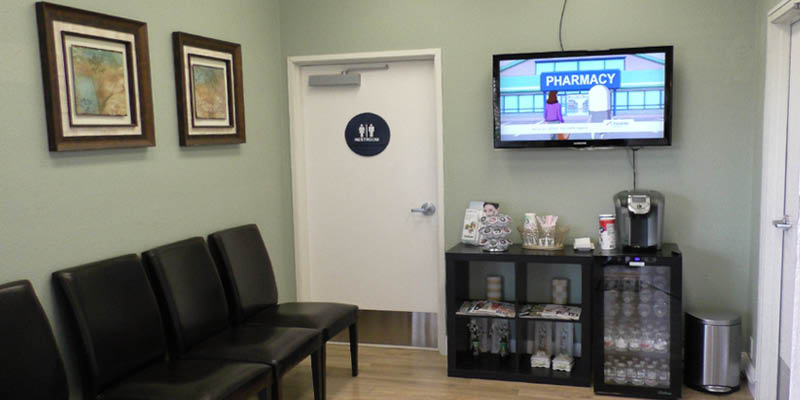 Oasis Dental Care in Huntington Beach Refreshments and television
