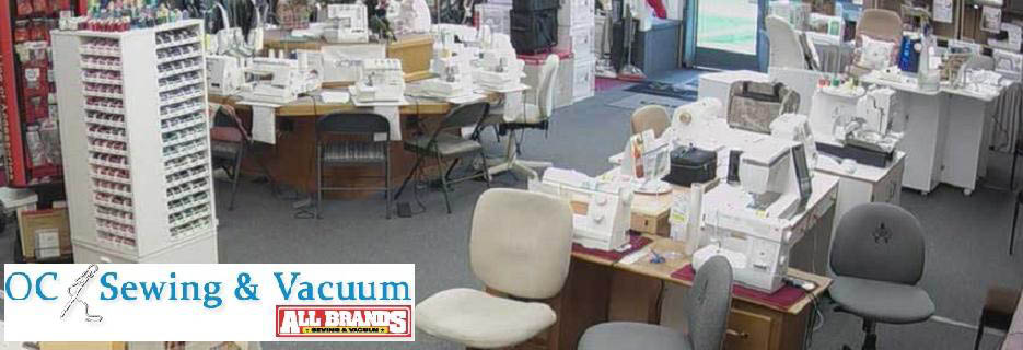 OC Sewing and Vacuum banner in Orange County, CA vacuum sales in orange county ca