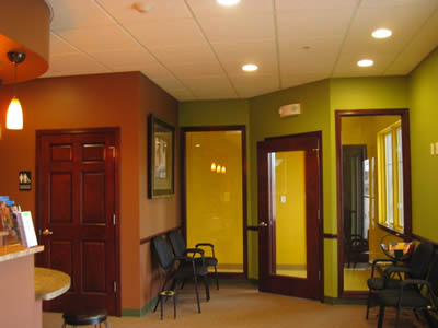dental office interior; dental exam, cosmetic dentistry; Smile Studio 87 Family & Cosmetic Dentistry Naperville, IL