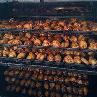 Oven racks of smoked chicken wings