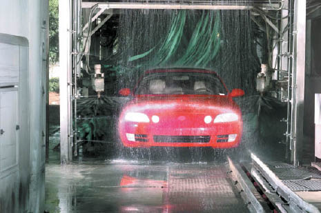 Oil Masters has a car wash on premises to clean your