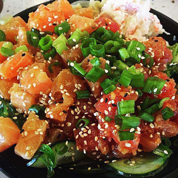 Sesame poke bowl with ahi tuna in Brea, CA
