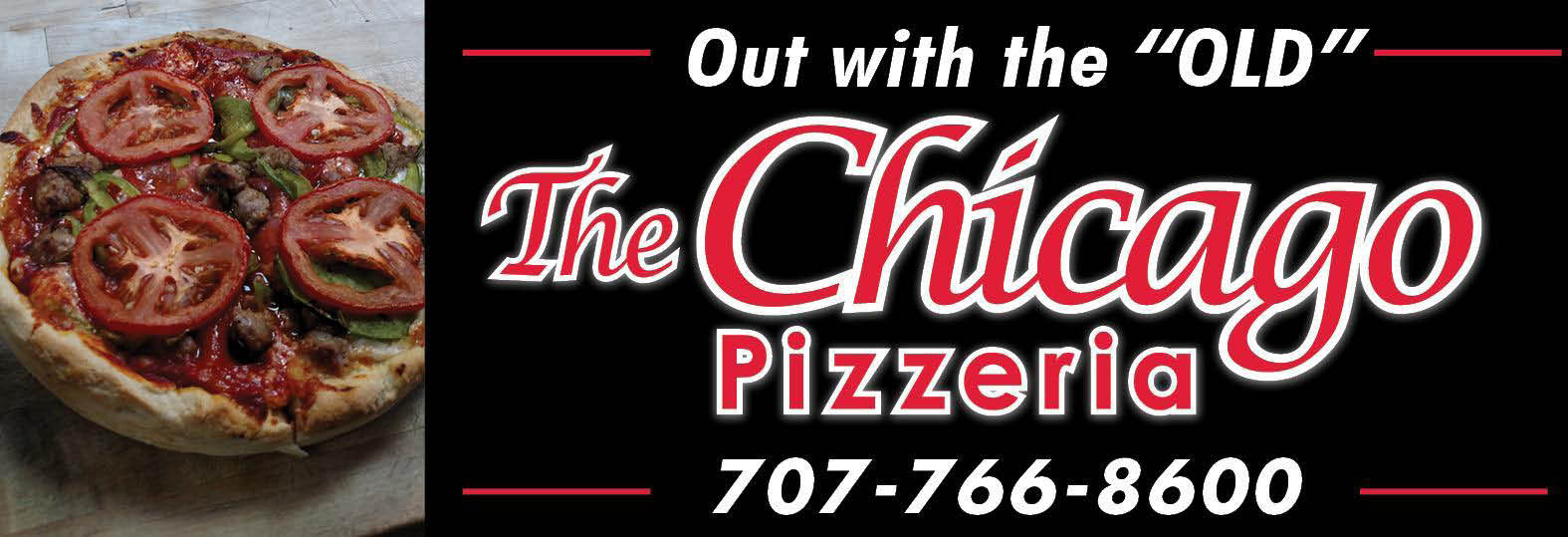 Old Chicago Pizza name change to The Chicago Pizzeria banner