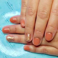Salon manicure with a little glisten here and there