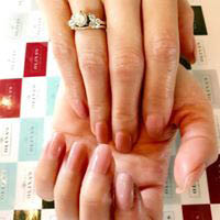 Acrylic nails and a professional manicure flatter your hands