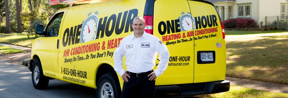 One Hour Heating & Air Conditioning logo in Indianapolis, IN Your Total Comfort Specialist