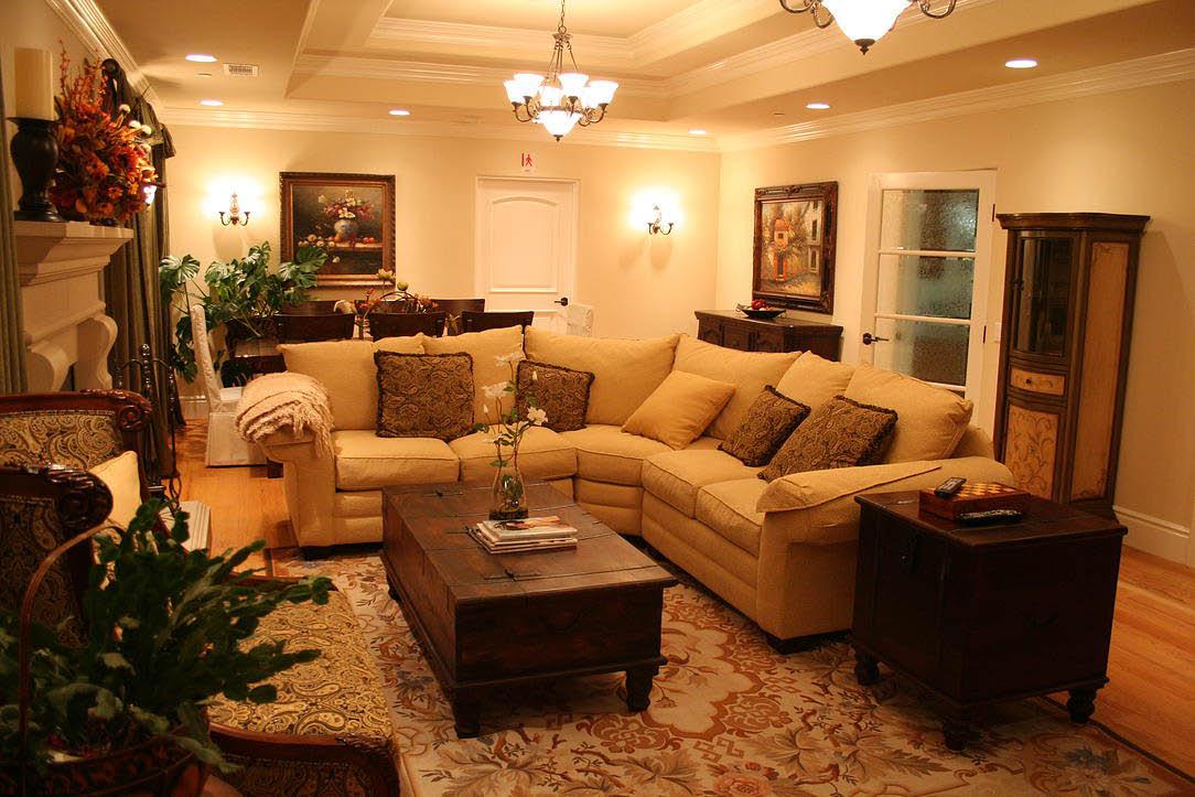 beautiful and stylish living room at Astoria Retirement Residences, Orange County, CA; senior living