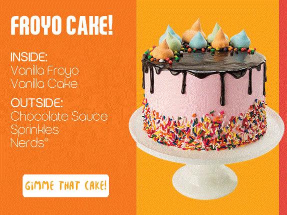 Birthday cakes at Orange Leaf in Macomb, MI