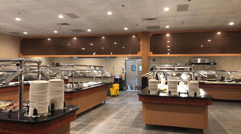 Buffet stations at Osaka located in Joliet, IL.