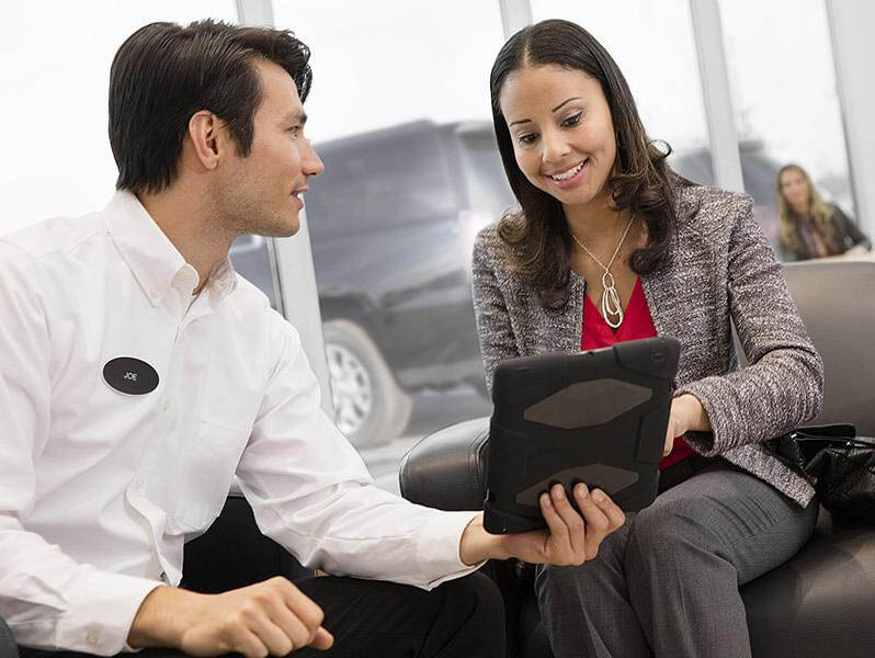 reviewing car financing contract for Chevrolet purchase