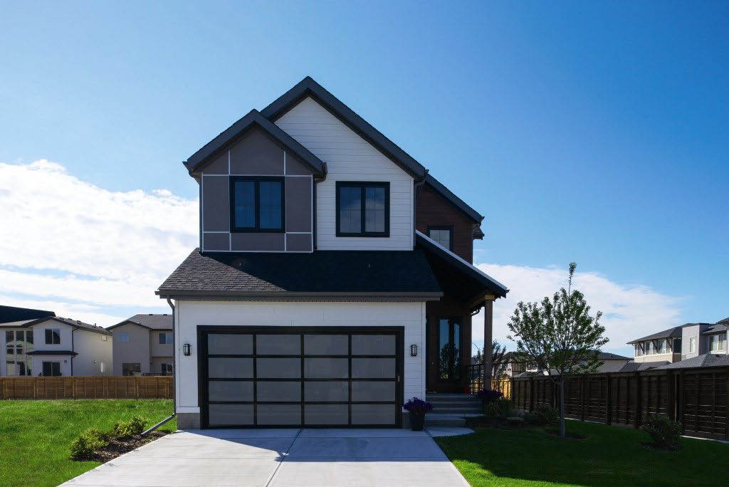 Modern Glass Collection aluminum & light filtering glass garage door in South Valley, NM