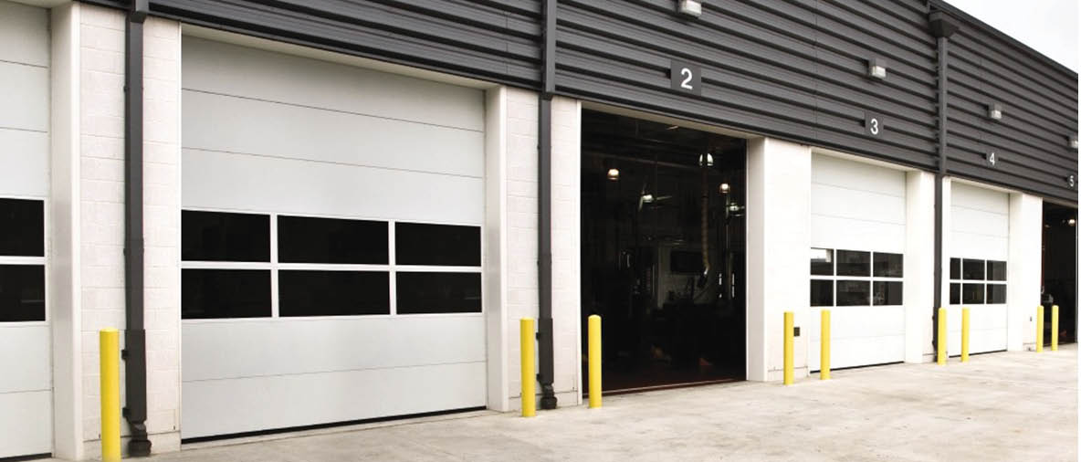 Commercial non-insulated sectional steel door close to Rio Rancho
