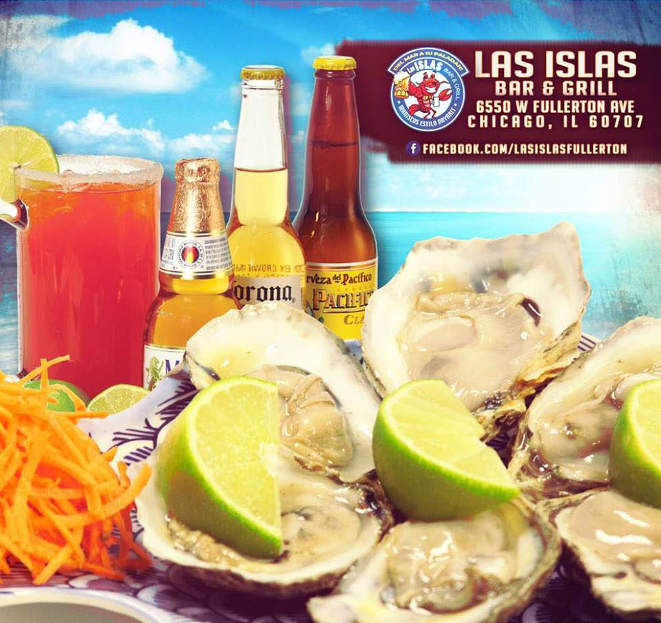 Come to happy hour for oysters on the half shell and drinks at Las Islas