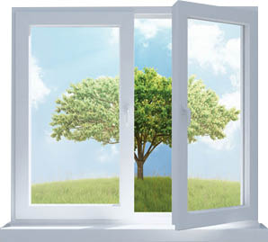open window for fresh air inside home