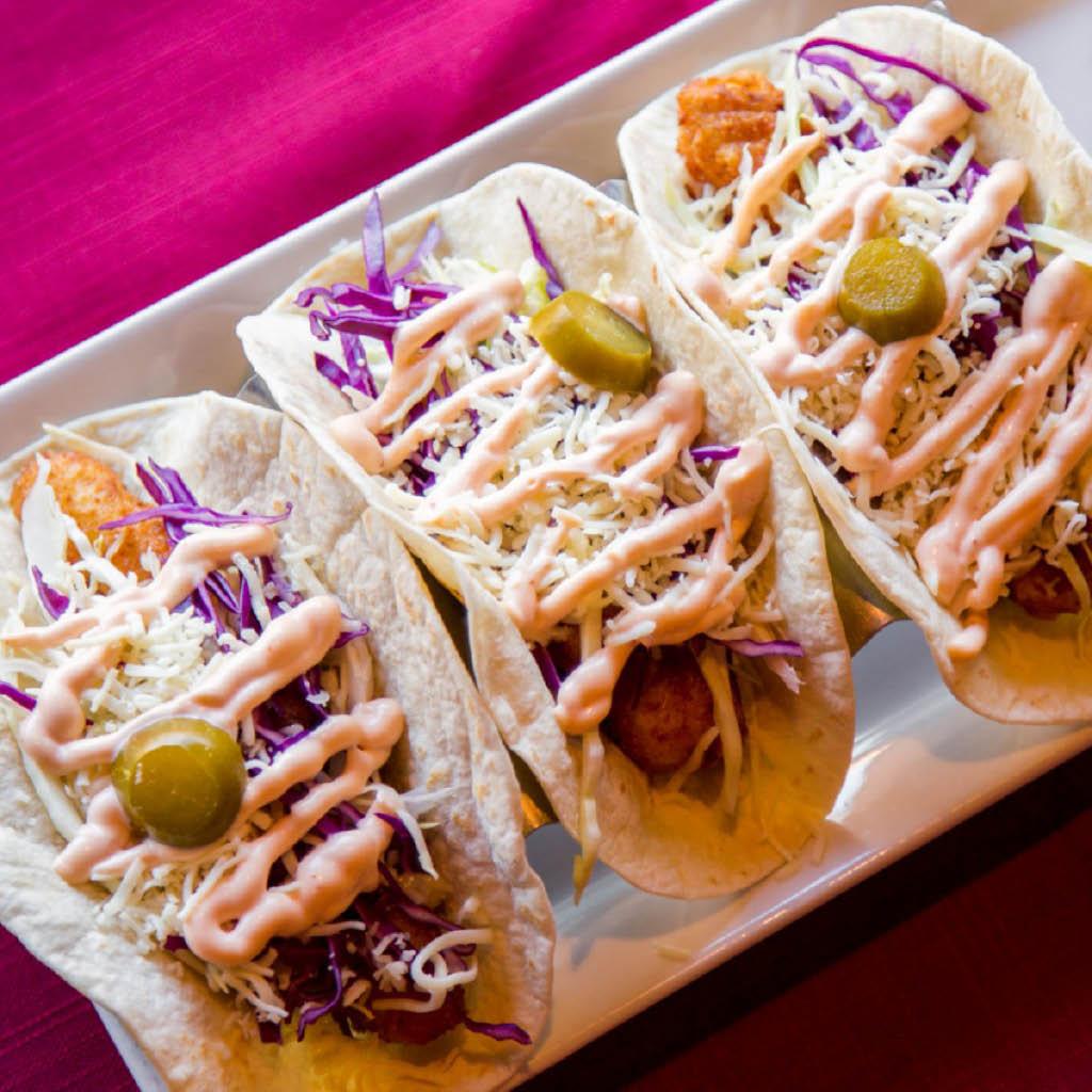 Trio of delicious street tacos