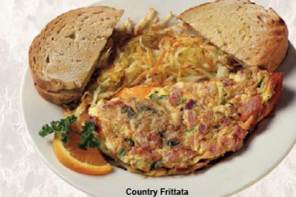 Open face sandwich at Pallas Restaurant in West Allis