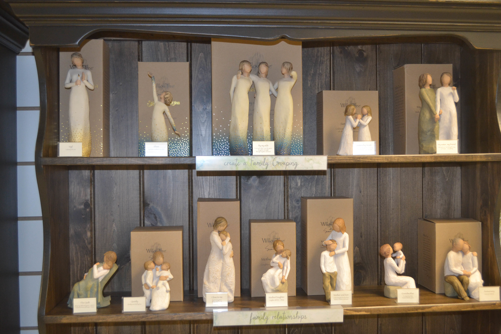 Family Gathering figurine collection by Willow Tree