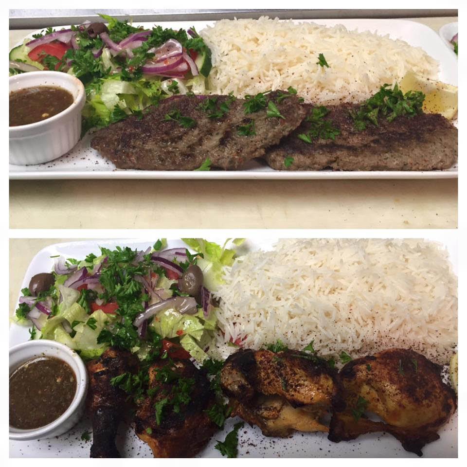 Chapli Kabob - Top Photo & Tandoori Chicken - Bottom Photo