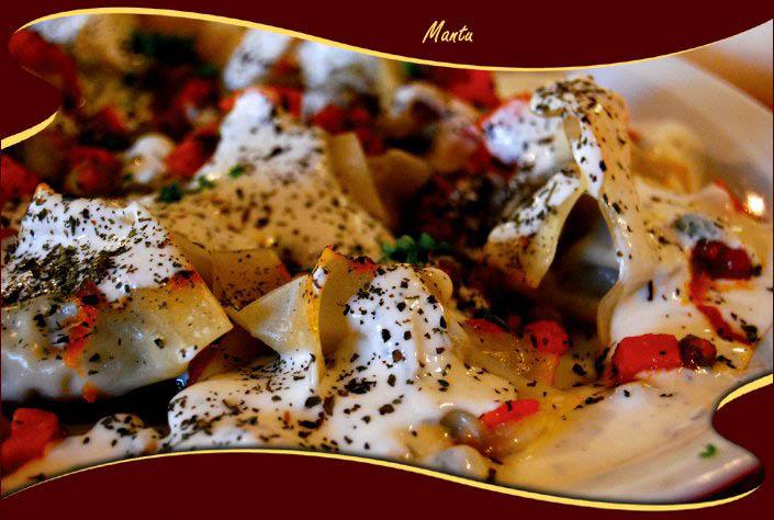 Mantu - Steamed pasta dumplings with perfectly seasoned ground beef