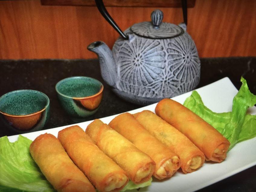 Eggrolls in Chinese restaurant in Sugar Land