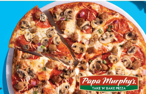 Papa Murphys pizza advertisement