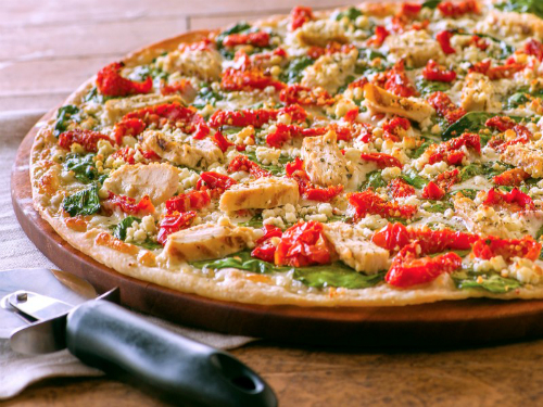 Papa Murphy's chicken garlic pizza image