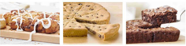 Papa John's in Hellertown decadent desserts - cinnamon pull aparts, chocolate chip cookies, double chocolate chip brownies