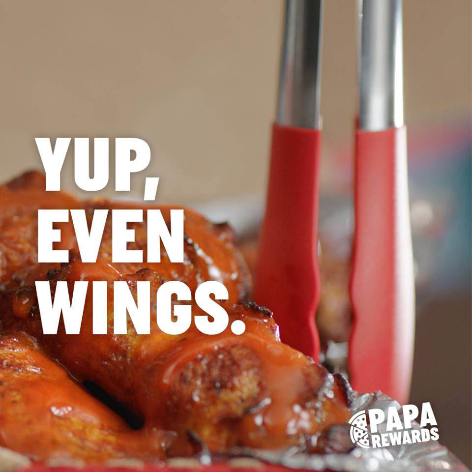 buffalo chicken wings papa john's pizza warick rhode island